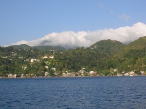 Southern Dominica from the sea