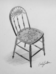 Emily Sutton's studio chair